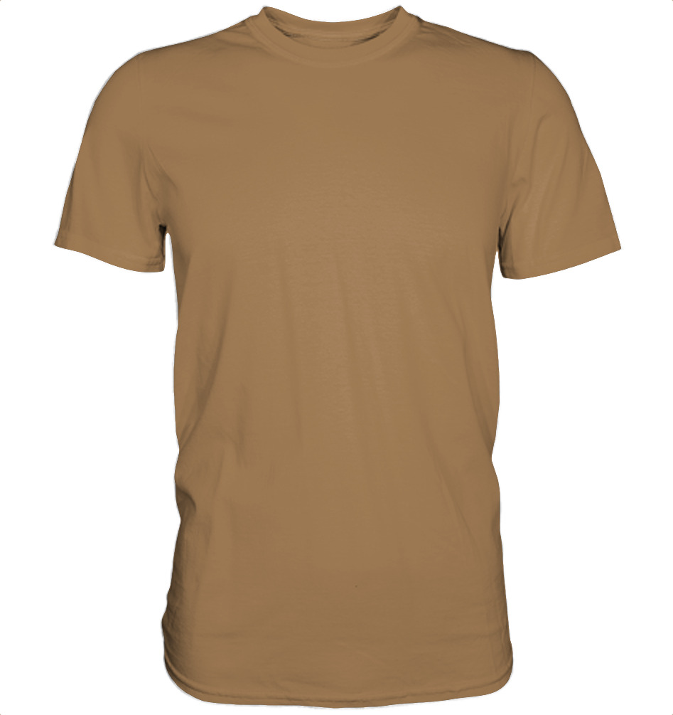 owl4one-product-TShirt Organic Men, 235|629|Camel, front