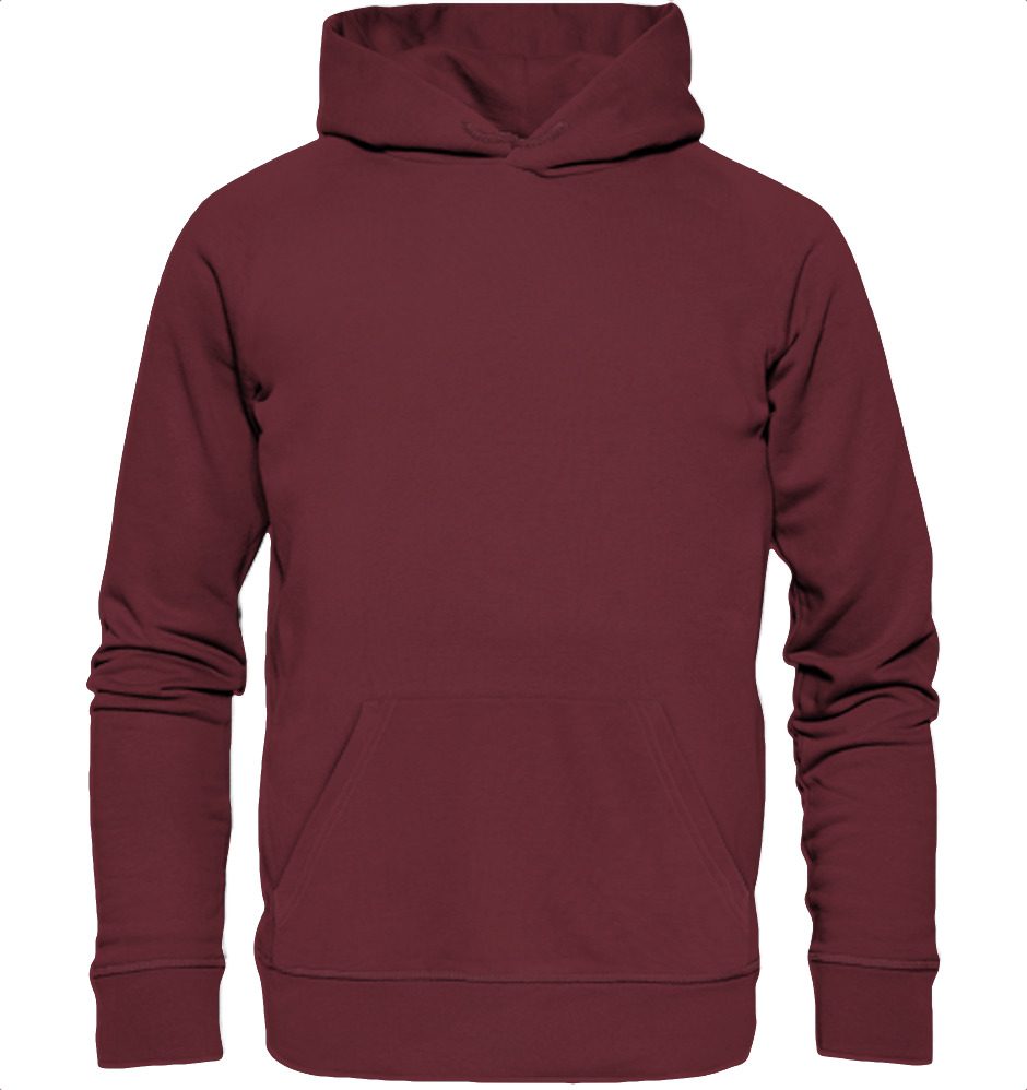 owl4one-product-Hoodie Organic, 393|323|Burgundy, front